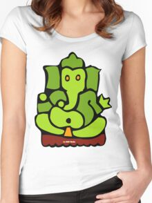 Green Ganesh T-Shirt Women's Fitted Scoop T-Shirt