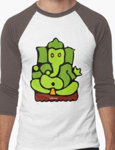 Green Ganesh T-Shirt Men's Baseball ¾ T-Shirt