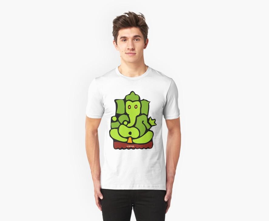 Green Ganesh T-Shirt by mindofpeace