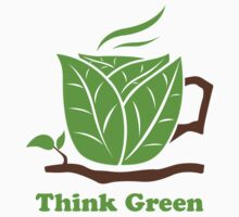Think Green T-Shirt Kids Clothes