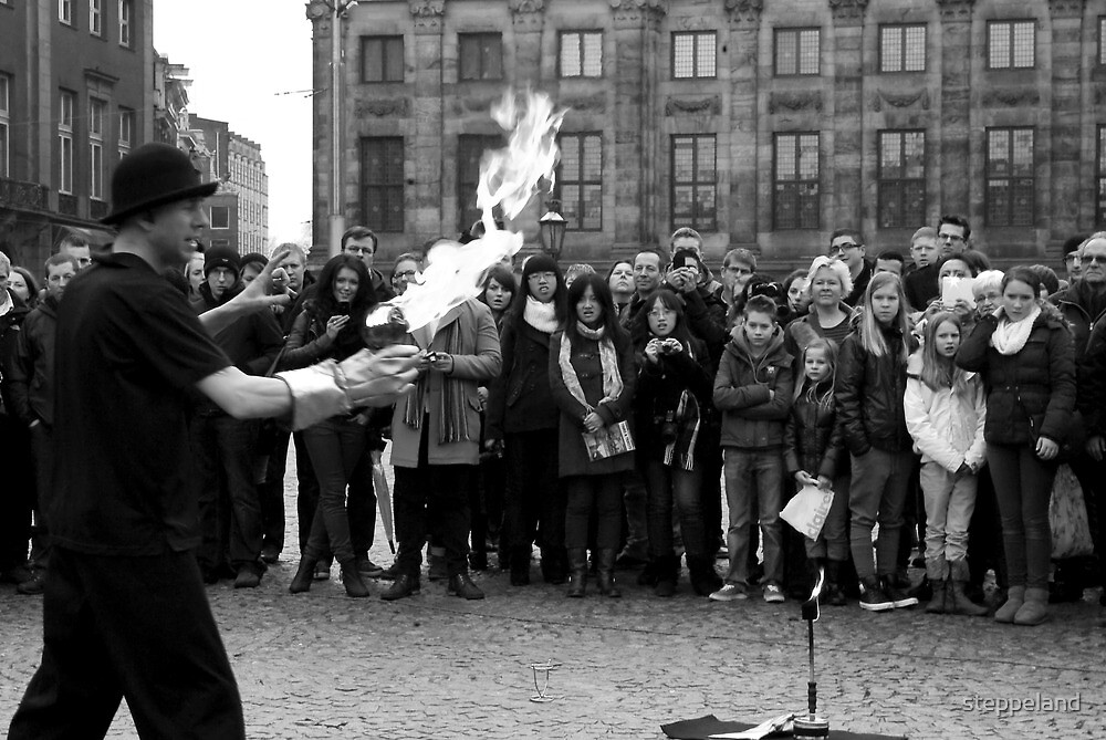 Fascinating Fire Performer by steppeland