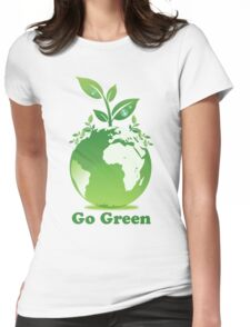 Go Green T-Shirt Womens Fitted T-Shirt