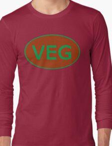 Vegan Vegetarian Symbol T-Shirt Long Sleeve T-Shirt