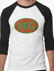 Vegan Vegetarian Symbol T-Shirt Men's Baseball ¾ T-Shirt