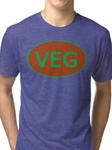 Vegan Vegetarian Symbol T-Shirt Tri-blend T-Shirt