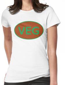 Vegan Vegetarian Symbol T-Shirt Womens Fitted T-Shirt