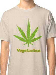 Vegetarian Pot Leaf T-Shirt Classic T-Shirt