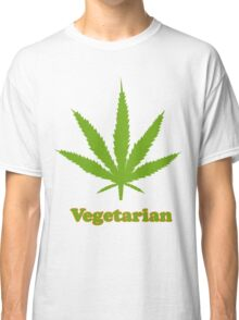 Vegetarian Pot Leaf T-Shirt Classic T-Shirt