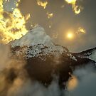 The Golden Icy Peaks by EthanMcFenton