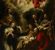 The Adoration of the Shepherds, 1657 by Bridgeman Art Library