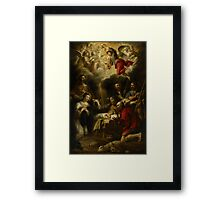 The Adoration of the Shepherds, 1657 Framed Print