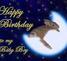 Birthday To My Baby Boy Bunny Rabbit by jkartlife