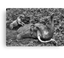 Mammoth and Sabre Toothed Tiger Canvas Print