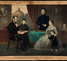 Kelly & Sons portrait of Abraham Lincoln and his family by Adam Asar