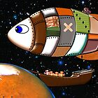 Martian Navy_Airship on Patrol by Dennis Melling