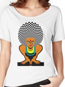 Psychedelic Desi Indian T-Shirt  Women's Relaxed Fit T-Shirt