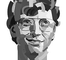 Geometric Portrait of Bill Gates by InTheModernEra
