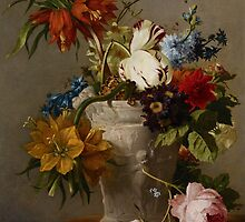 An Arrangement with Flowers, 19th century  by Bridgeman Art Library