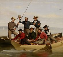 A Fishing Party Off Long Island, 1860  by Bridgeman Art Library