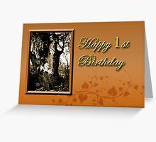 1st Birthday Willow Tree Greeting Card