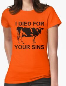I Died Sins T-Shirt Womens Fitted T-Shirt
