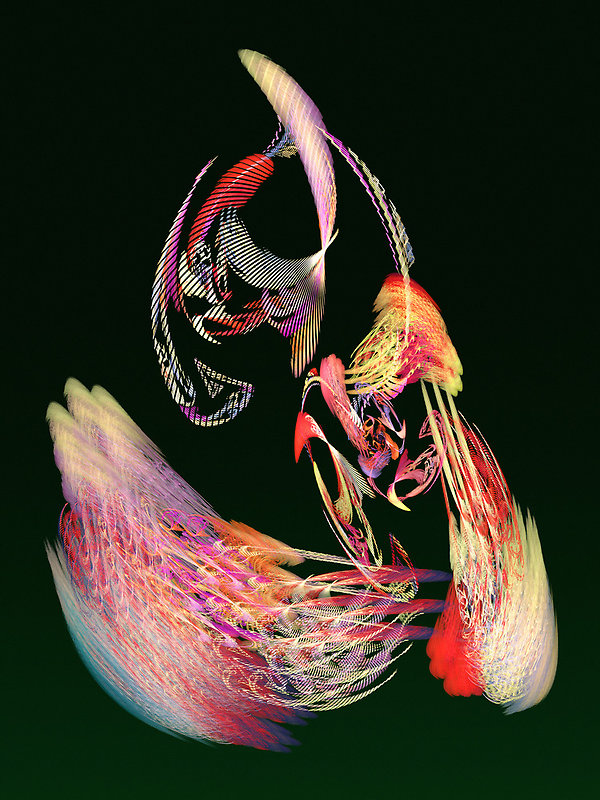 Fractal - Parrot by Susan Savad