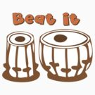 Tablas Drum Beat It T-Shirt by mindofpeace