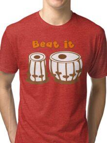 Tabla Drum Beat It T-Shirt Tri-blend T-Shirt