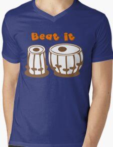 Tabla Drum Beat It T-Shirt Mens V-Neck T-Shirt