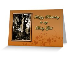 Birthday To My Baby Girl Willow Tree Greeting Card