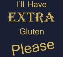 Extra Gluten - Yellow Kids Tee