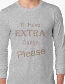 Extra Gluten - Brown Long Sleeve T-Shirt
