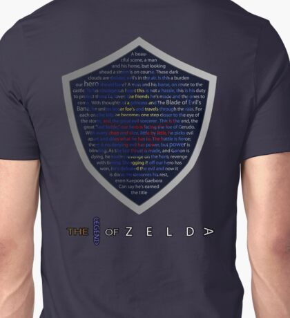The Legend of Zelda Sheild Poem (Alternate) Unisex T-Shirt