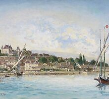 Landscape from Lake Leman to Nyon, 1875 by Bridgeman Art Library