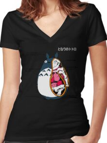 Anatomy of a neighbor Women's Fitted V-Neck T-Shirt