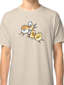 2 Cute Pomeranians Classic T-Shirt