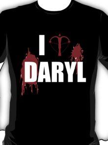 I <3 Daryl - Black Shirt T-Shirt
