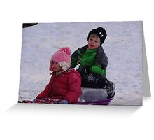 Can't you drive any faster, I'm freezing! Greeting Card
