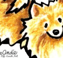 Cute Cream Pomeranian Sticker