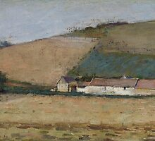 A Farm Among Hills, Giverny, c.1887 by Bridgeman Art Library