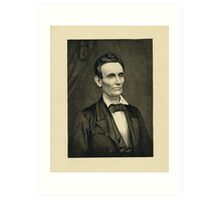 Portrait of Lincoln, artist's proof Art Print