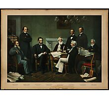 Print of Lincoln's cabinet based on Carpenter painting Photographic Print
