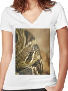 PUFF ADDER Women's Fitted V-Neck T-Shirt