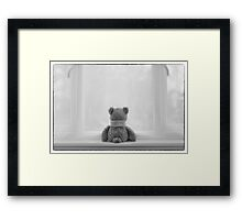 Teddy Bear Waiting Framed Print