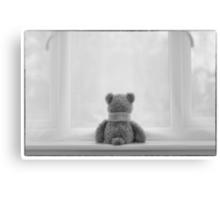 Teddy Bear Waiting Canvas Print
