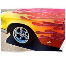 1954 Studebaker - Flames Poster