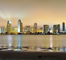 San Diego California Skyline by Reese Ferrier