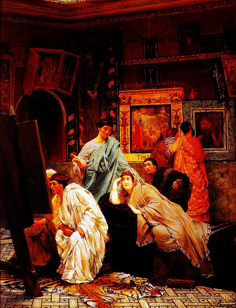 A Collection of Pictures at the Time of Augustus by Sir Lawrence AlmaTadema by Adam Asar