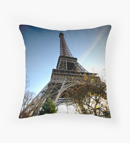 Wide angle Eiffel Throw Pillow