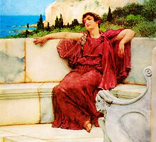 A Female Figure Resting Dolce far Niente by Sir Lawrence AlmaTadema by Adam Asar